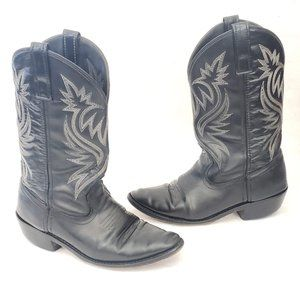 🤠 Laredo Black Leather Western Boots Size 7.5D 🤠